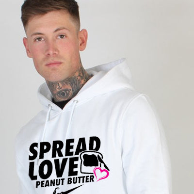 Spread Love & Peanut Butter Pullover Hoodie - Men