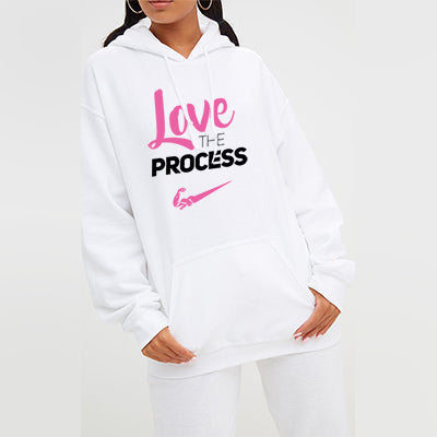 Love The Process Pullover Hoodie - Women