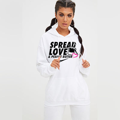 Spread Love & Peanut Butter Pullover Hoodie - Women