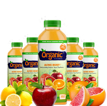 Organic Cleanse Acne Bust citrus juice is a natural detox for the skin, and body. It supports the immune system and digestion system.