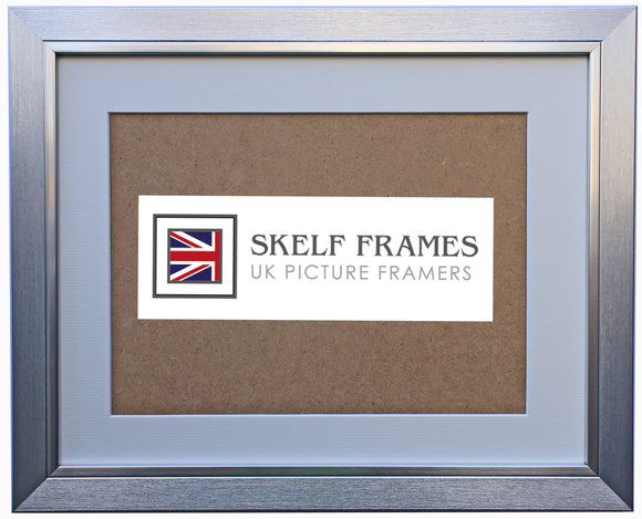30mm Brush Flat Silver Frame with Glass and Mount