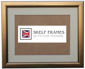 Champagne Gold Frame with Glass and Mount