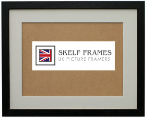 Econ Black Wood Frame with Glass and Mount