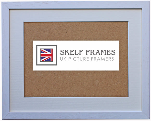 Econ White Wood Frame with Glass and Mount