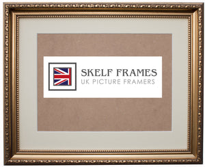 Ornate Gold Frame with Glass and Mount