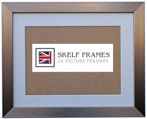 Pewter Frame with Glass and Mount