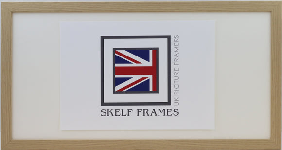 20mm Light Oak Veneer Panoramic Frame with Glass