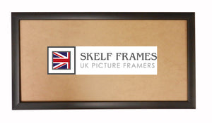 Matt Black Wood Frame Panoramic Frame