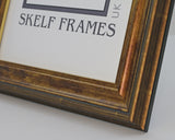 Panoramic Antique Gold Effect Frame with Glass