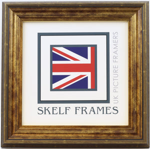 Antique Gold Square Frame With Glass