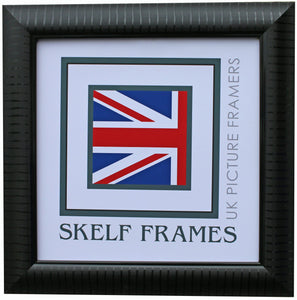 Black Leaf Square Frame