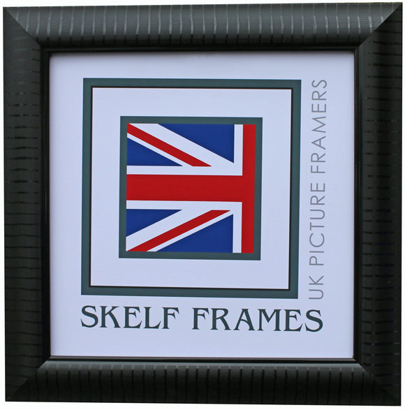 Black Leaf Square Frame with Glass