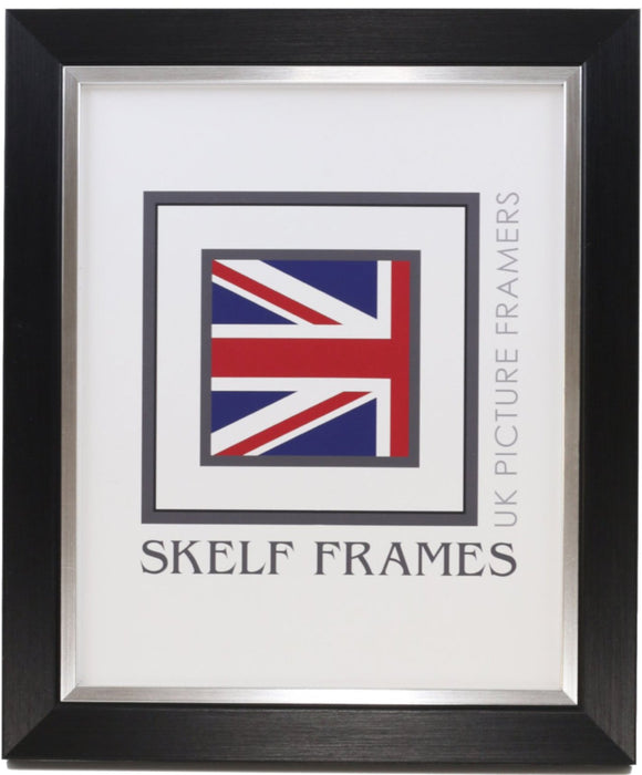 Brush Black & Silver Frame - Metric