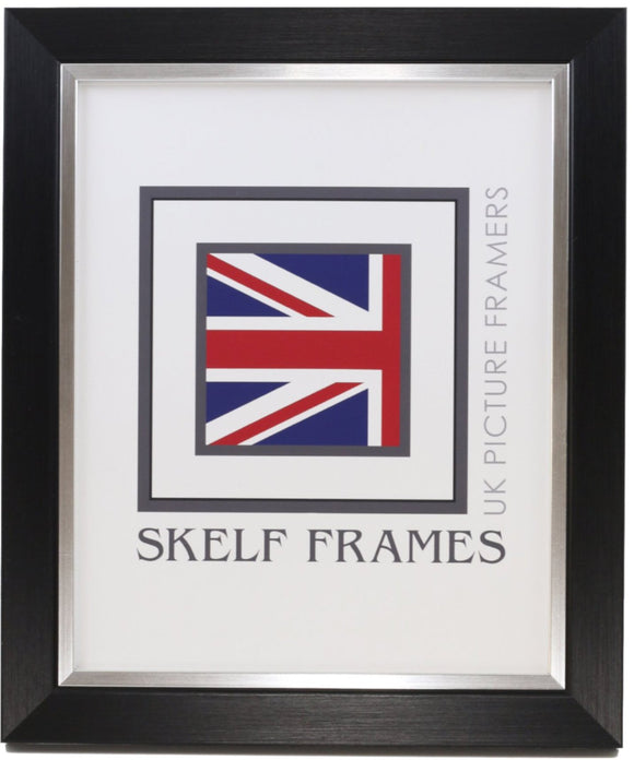 Brushed Black and Silver Frame
