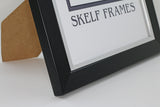 Brushed Black and Silver Frame with Glass