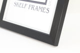 Brushed Black with Silver Inlay Frame