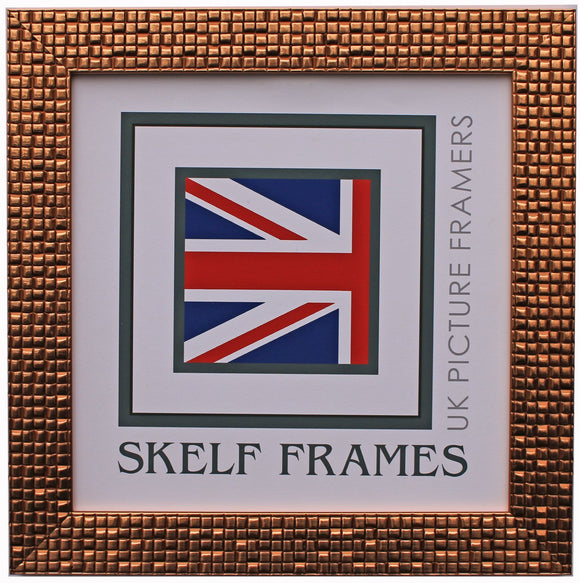 Mosaic Bronze Square Frame with Glass