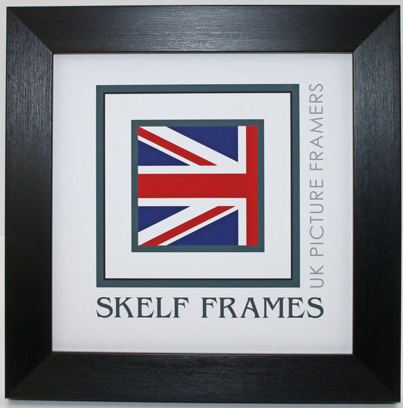 Brush Black Square Frame with Glass