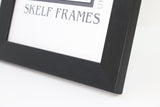 "Brush Black Multi Aperture 22"" x 9"" - With Glass Frame"
