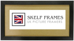 Panoramic Brush Black Frame with Glass
