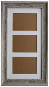 "Walnut Washed Wood Grain Multi Aperture 20"" x 10"" Frame with Glass"