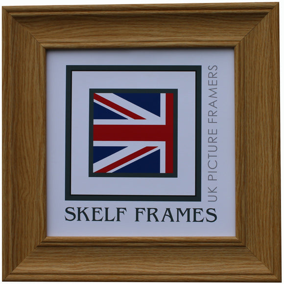 Oak Effect Wood Grain - Square Frame with Glass