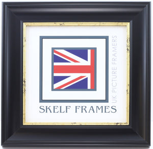 Black & Gold Cornwall Range - Square Frame with Glass