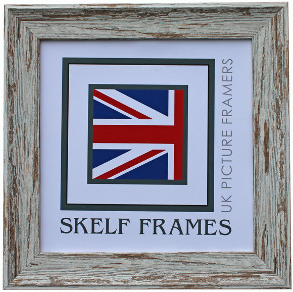 Dark Shabby Distressed Spoon Square Frame