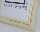 Distressed Off-White Wood Panoramic Frame