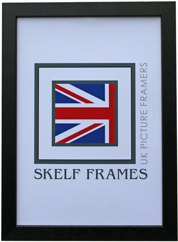 Econ Black Wood Frame with Glass