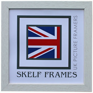 Econ White Wood Square Frame with Glass
