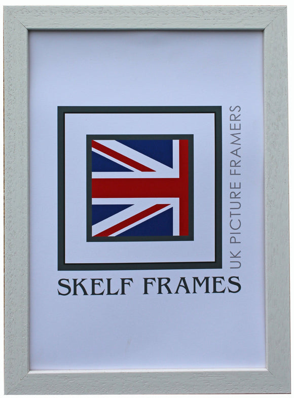Econ White Wood Frame with Glass