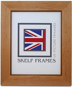 Antique Pine Distressed Wood Frame