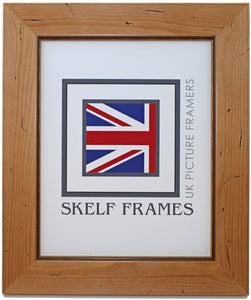 Antique Distressed Pine Large Frame - Metric