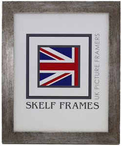 Flat Antique Silver Frame - Metric