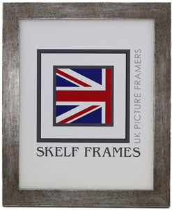 Flat Antique Silver Wood Frame