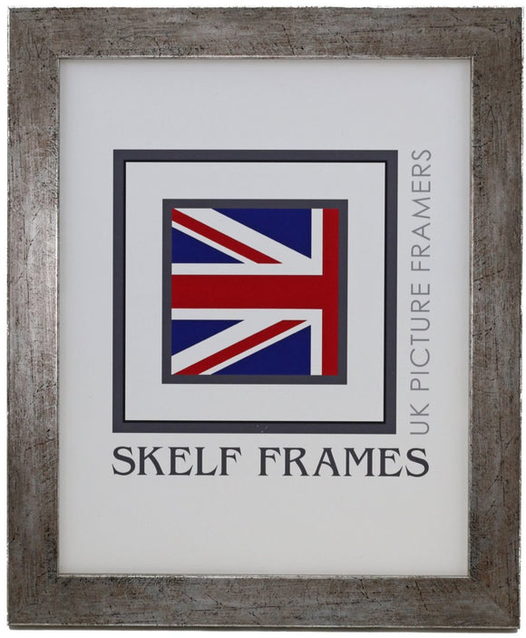 Flat Antique Silver Wood Frame - CURRENTLY OUT OF STOCK
