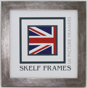 c1dcbd2b49e Flat Antique Silver Square Frame With Glass – Skelf Frames Ltd