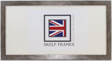 Flat Antique Silver Panoramic Frame with Glass