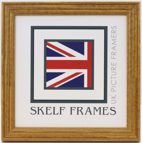 Honey Pine Square Frame with Glass