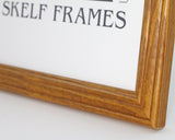 "Honey Pine Pine Multi Aperture 17"" x 9"" - With Glass Frame"