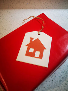 """House"" Gift Tag - Hand Made - Pack of 5"