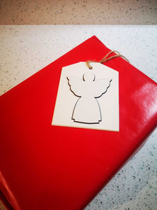"""White Angel"" Gift Tag - Hand Made - Pack of 5"