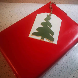 """Christmas Tree"" Gift Tag - Hand Made - Pack of 5"