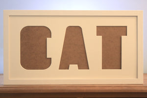 "Cat Multi Mount Photo Frame - 20"" x 10"" - Takes three 7"" x 5"" photos"