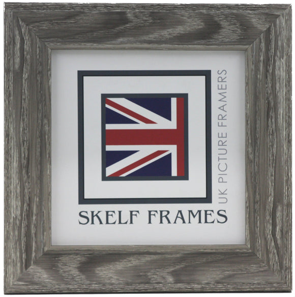 Cornwall Grey Woodgrain Effect Square Frame