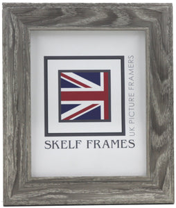 Cornwall Grey Woodgrain Effect Frame - Metric