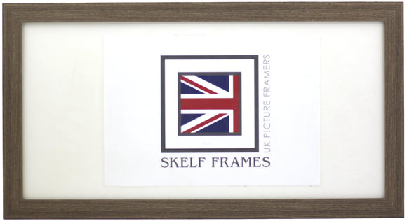 Panoramic Flat Brushed Brown Frame