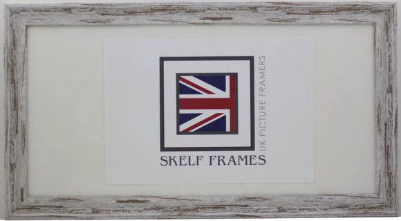 Panoramic Dark Shabby Distressed Spoon Frame