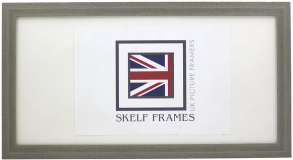 Panoramic Flat Brushed Grey Frame